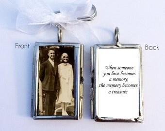 WEDDING BOUQUET CHARM -  Bridal Bouquet memorial photo - Custom Photo Wedding Bouquet Charm - wedding charm - Bridal Bouquet locket
