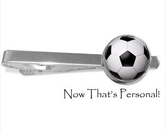 Soccer ball  Tie clip , soccer ball tie bar, Soccer Tie Clip - 20 mm - sports tie clip - soccer - futbol - Groomsmen gift