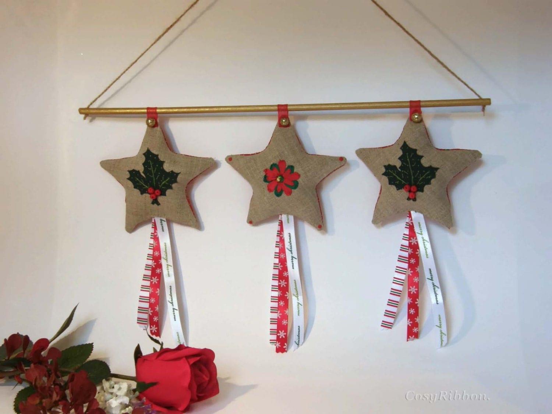 #A92230 Linen Star Christmas Decoration Rustic Linen Christmas 5515 decorations de noel star wars 1500x1125 px @ aertt.com