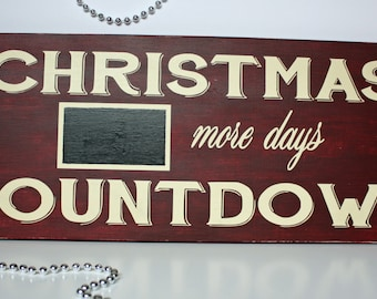 Christmas Countdown Sign, Chalkboard Countdown, Christmas Decoration, Christmas Sign, Wood Sign