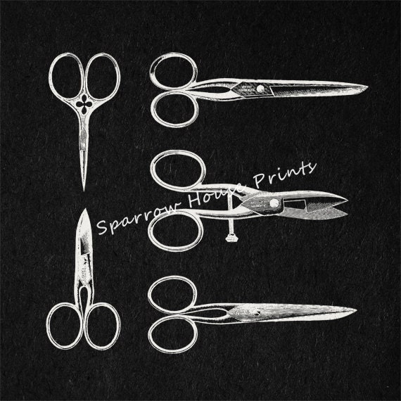 Items similar to Vintage Hair Cutting Scissors and Shears ...
