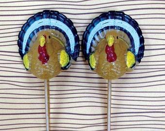 Thanksgiving Cake Picks, 12 Turkey Cupcake Toppers