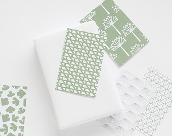 gift tags green, 10 cards