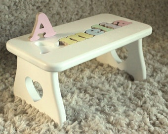 Puzzle Name Step Stool - New baby First birthday Second birthday Nursery decor & Etsy :: Your place to buy and sell all things handmade islam-shia.org