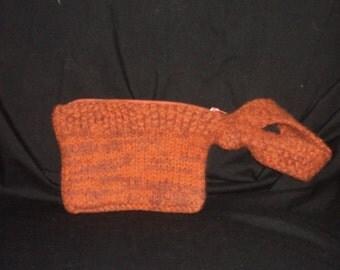 Hand Knit Felted Wristlet