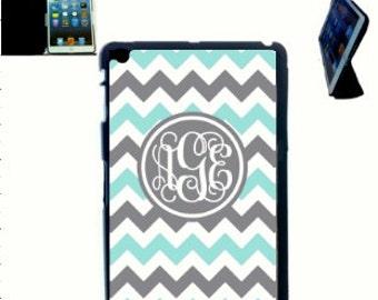 Smart Cover Monogram iPad Case, Monogram iPad Case, Chevron Pattern Monogram iPad Mini Case, iPad Case