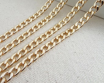 6mm wide light weight golden chains for purse,chain shoulder,chain for bag
