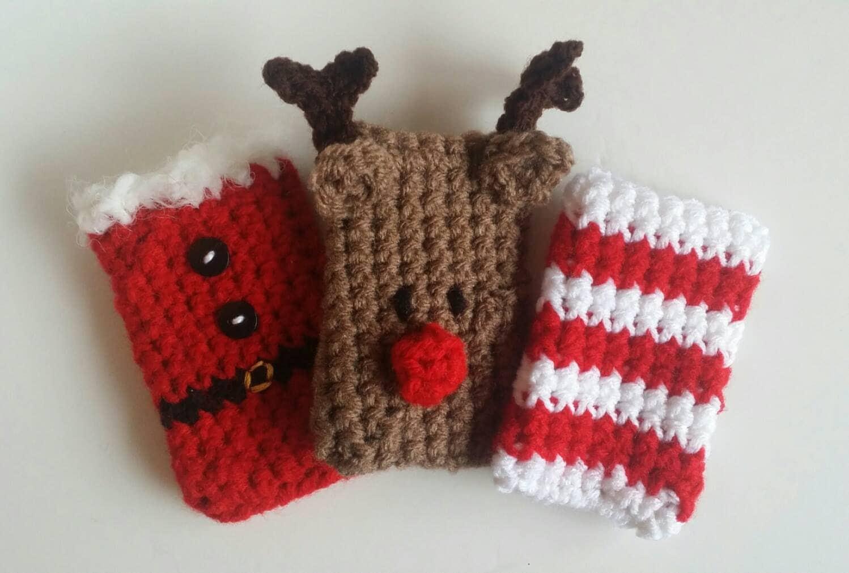 Crochet Christmas Gift Card Holders 3 Pack