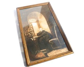 Vintage Watkins' Art/ Religious Nun Print with Frame