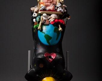 Life Size Pregnant Mannequin Found Object Sculpture, Motherhood, Babies