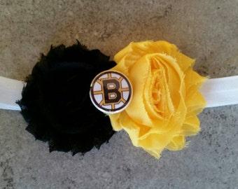 Boston Bruins Infant Headband. Boston Bruins Elastic Headband.