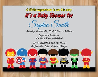Trust image for free printable superhero baby shower invitations
