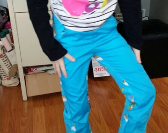 Twist and Shout Pants pattern designed by MBJM cute as can be