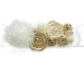 Bridal Sash, Wedding Dress Sashes Belts, Sashes, Sash, Wedding Sash, Handmade Silk Flowers Belt, Sash, Sash Belt, gatsby, Ribbon Sash