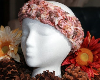 Headband and ear warmer, handmade crochet womens accessory and cold weather wear