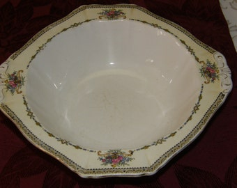 Vintage Round Square Rim Harmony Rose ALFRED MEAKIN Vegetable Bowl