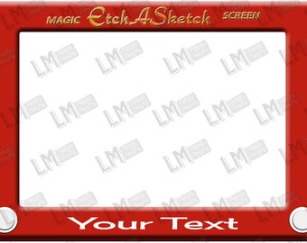 DIGITAL Etch a Sketch Photo Prop - Customise with your name or Event.  Toy Story Inspired, Download, DIY, Printable