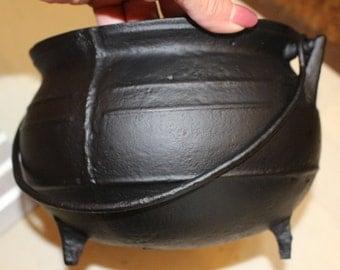 Vintage Gypsy Cauldron Cast Iron