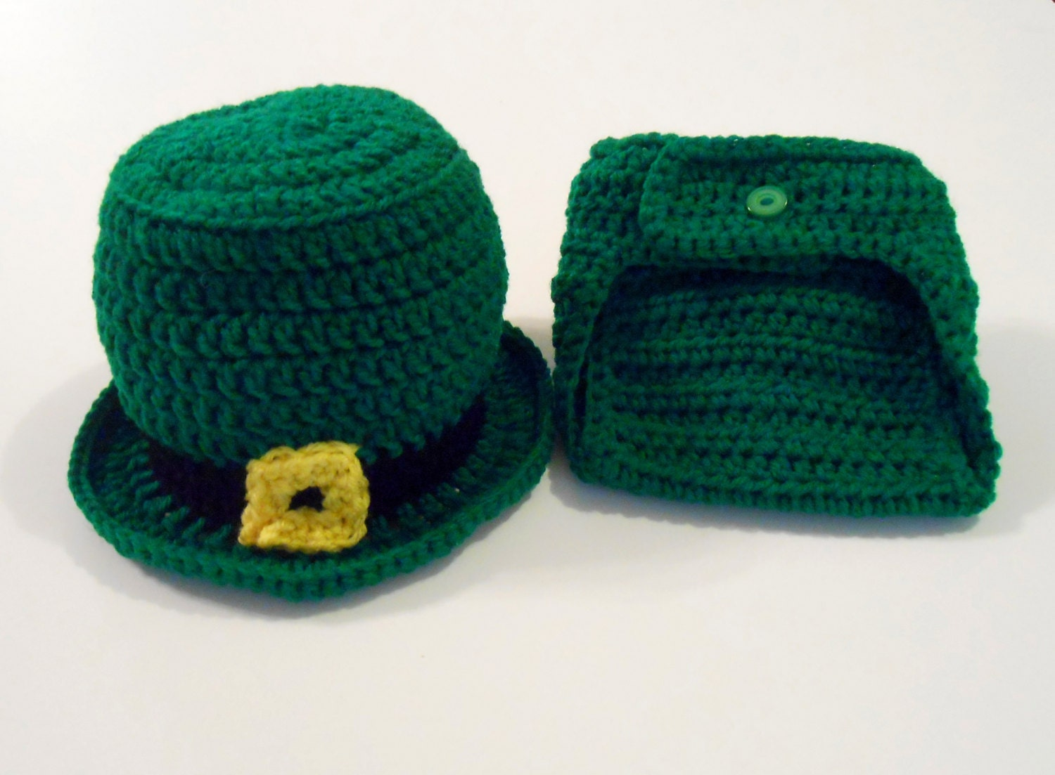 Leprechaun Hat and Diaper Cover St. Patricks by ...