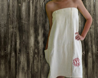 bath towel wrap, spa towel wrap, womens swimsuits, cover ups monogram, bathwrap, spa wrap, bridesmaids swimsuit coverup, monogrammed