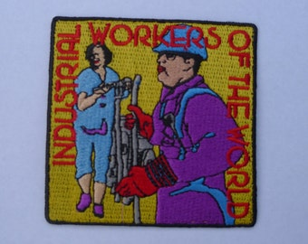 union patch.industrial workers of the world embroidered patch,iww, IWW patch,