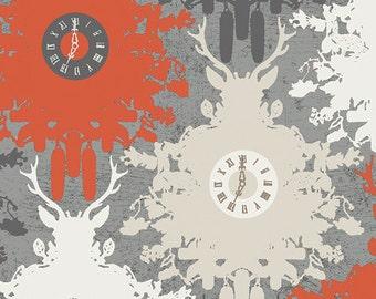 SALE Indelible - Time is Deer Ember - Katarina Roccella - Art Gallery Fabrics (IDL-2220)