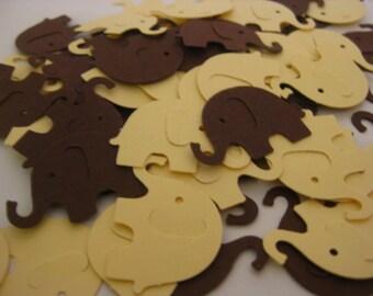 Elephant Confetti, Baby Shower Confetti, Yellow and Brown Party Confetti