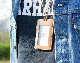 Natural Hermann Oak ID Card Holder (Tall)