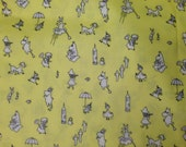 Moomin lemon yellow  OIL CLOTH canvas, fat quarter 46x70cm, for small coin purses etc from Finland