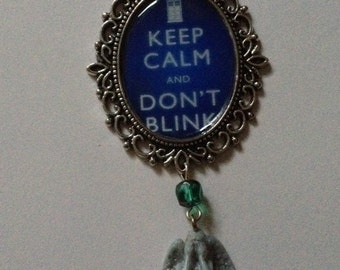 Dr Who Weeping Angel necklace
