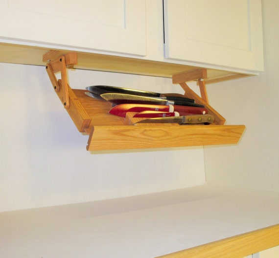 items similar to under cabinet mounted knife rack from. Black Bedroom Furniture Sets. Home Design Ideas