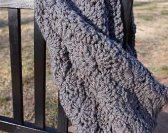 Soft Chunky Pewter Infinity Scarf
