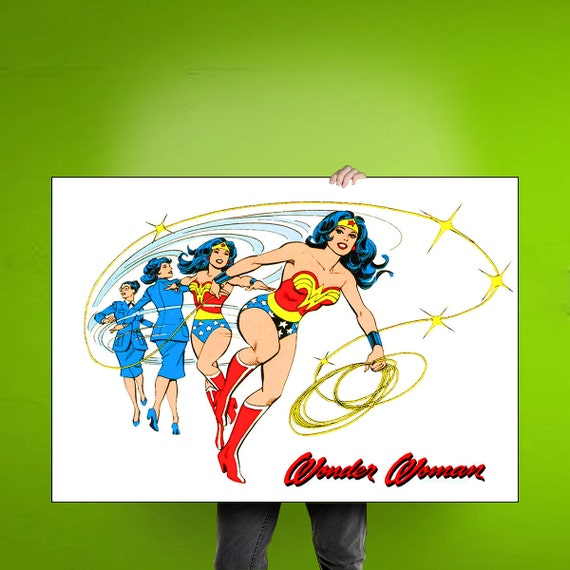Wonder Woman  Comic Cover - Art Print / Poster / Cool Wall Art - Any Size