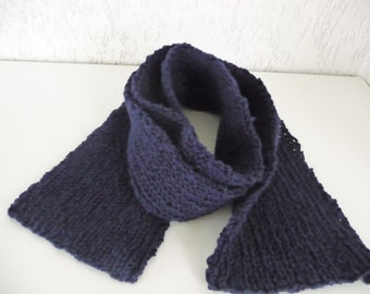 FREE SHIPPING, Scarf,  hand knit, 100% British  wool, handmade knitwear,