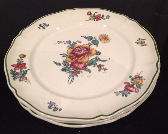 set of three antique villeroy and boch dinner plates made in. Black Bedroom Furniture Sets. Home Design Ideas