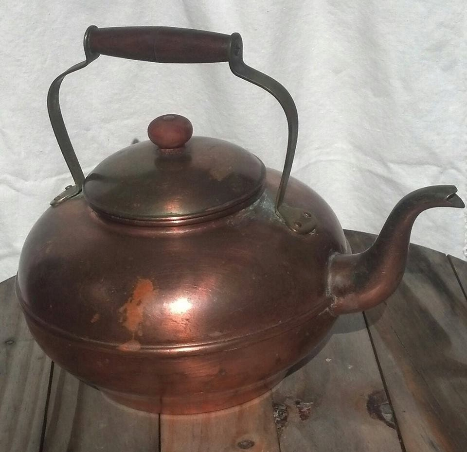 Vintage Targus Copper Tea Kettle Made In Portugal R57