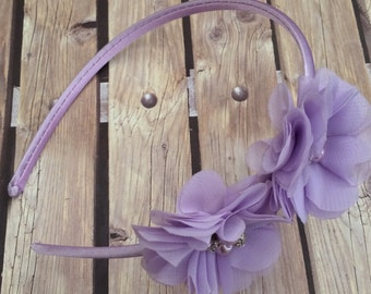 Sophia headband, purple headband, lilac headband, lavender headband, flower girl headband, flower girl, wedding, halo, flower girl headband,