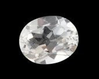 White Topaz Oval Loose Gemstone 10x8mm TGW 2.86 cts.