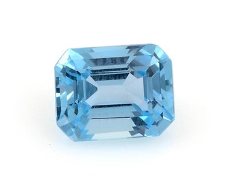 Blue Topaz Octagon Cut Loose Gemstone 1A Quality 9x7mm TGW 2.25 cts.