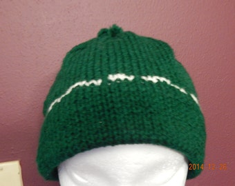 Knit Green Ski Hat