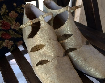 Vintage 60s Gold Party Booties