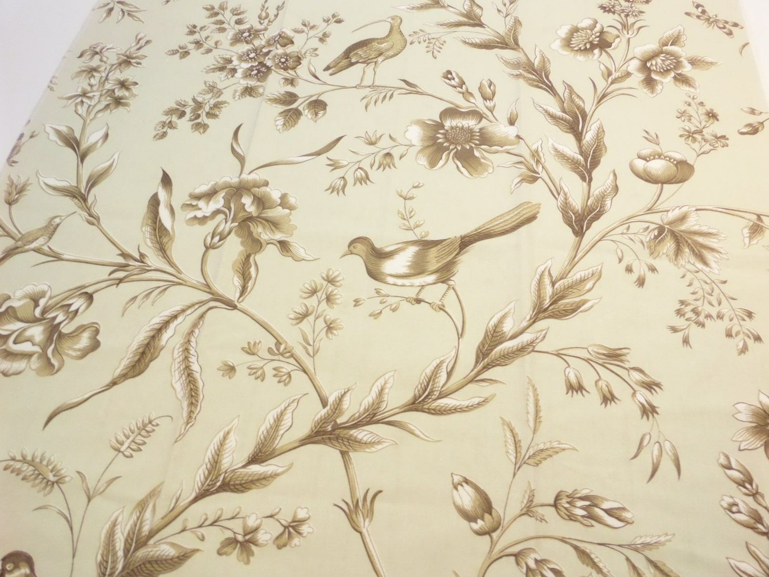 bird toile fabric