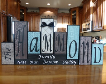 Word Blocks Word Letter Blocks Family Block Letters home decor Personalized Name Block Word Name Blocks unique custom Christmas Holiday gift