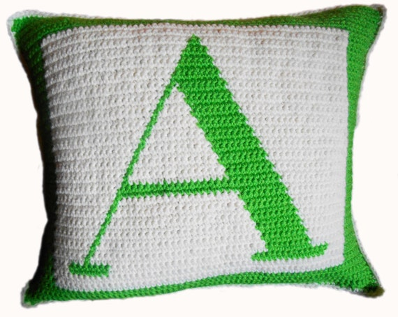 Free Crochet Letter Pillow Pattern : Crochet Pattern Letter A Crochet Pillow
