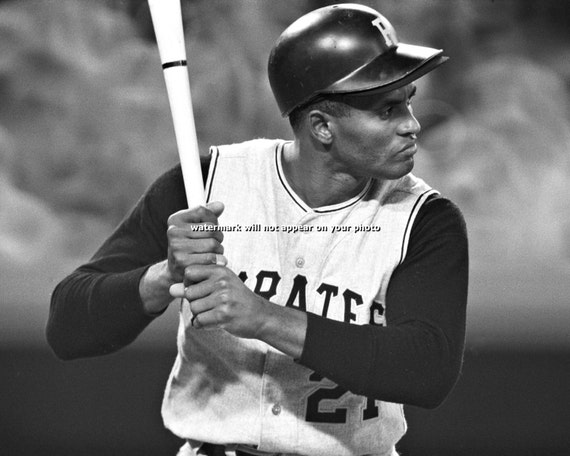Roberto clemente pitsburgh pirates vintage photo by for Roberto clemente coloring page