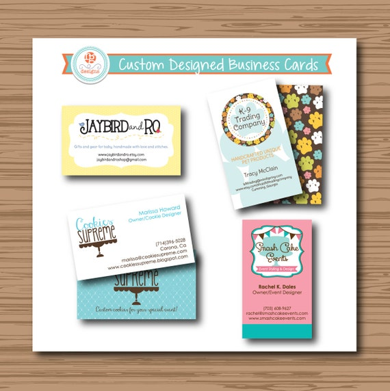 Custom Business Card Design Etsy Shop by robingrandedesigns