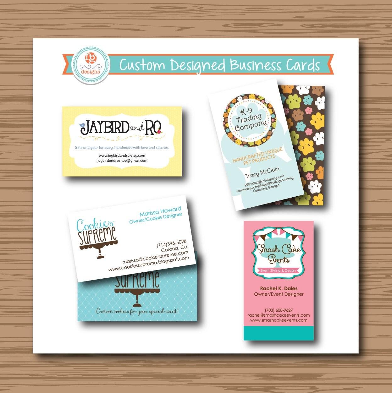 Custom business card design etsy shop by robingrandedesigns for Etsy shop business cards