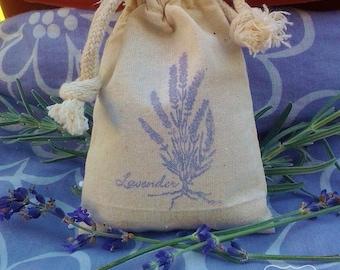 Hand stamped lavender-filled Sachet,  Dryer Sachet. Muslin bag. Wedding & Shower Favors, Dryer Sachet, Gifts