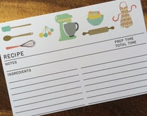 Wedding Couple Gift Exchange : 30 RECIPE CARDS Vintage Wedding Kitchen Shower Gift Couples 4x6 ...