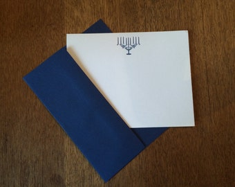 Hanukkah Letterpress Notecards (set of 10)